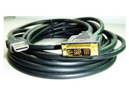 HDMI-DVI 0,5m, 1.3, M/M stíněný, zlacené kontakty