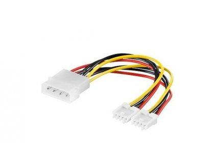 "Kabel napájecí HDD, FDD 5,25""-2x3,5"""