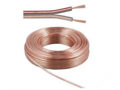 PremiumCord Kabely na propojení reprosoustav 100% měď 2x0,75mm 10m