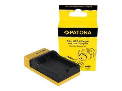 Patona nabíječka pro Foto Canon BP-808/820/827/828, slim, USB