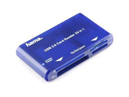 HAMA čtečka karet USB 2.0 35 v 1 (55348)