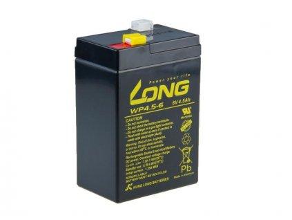 Long 6V 4,5Ah olověný akumulátor F1 (WP4.5-6)