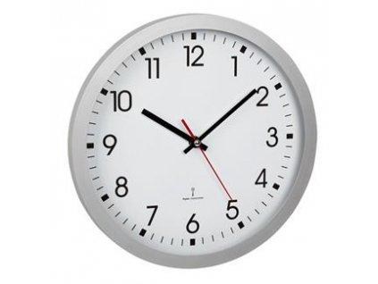TFA analogové nástěnné hodiny řízené rádiovým DCF signálem 60.3522.02 - stříbrné