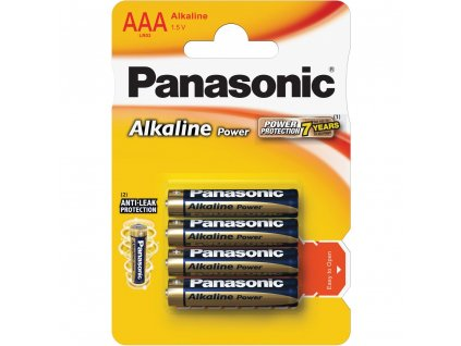 Panasonic LR03 4BP AAA Alk Power