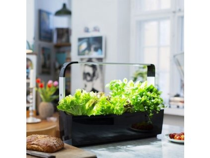 Tregren T12 Kitchen Garden, chytrý květináč, černý