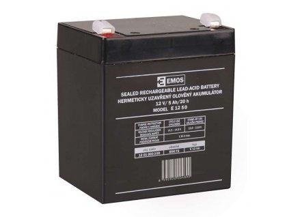 Bezúdržbový olověný akumulátor 12V 5Ah faston 6,3mm