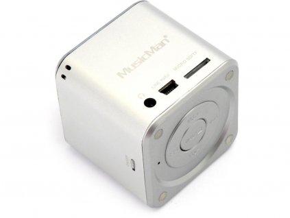Technaxx MusicMan Mini Wireless Soundstation BT-X2 stříbrný
