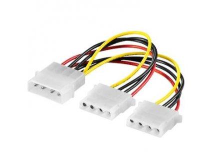 "PremiumCord Kabel napájecí molex HDD 5.25""-2x5.25"""