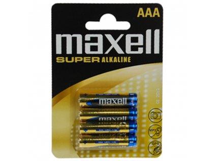 MAXELL Super alkalické baterie LR03 4BP AAA, blistr 4ks