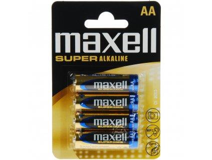 MAXELL Super alkalické baterie LR6 4BP AA, blistr 4ks