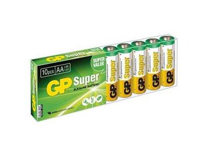 GP Super Alkaline baterie 15A LR06 (AA, tužka) 1,5V 10 kusů