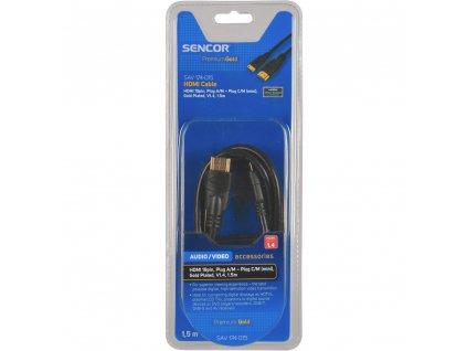 Sencor SAV 174-015 HDMI kabel,černý,1,5 metru