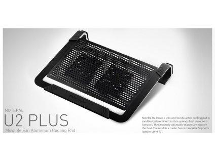 Cooler Master NotePal U2 Plus Notebook Cooler černá 56x
