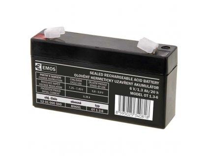 Bezúdržbový olověný akumulátor 6 V 1,3 Ah