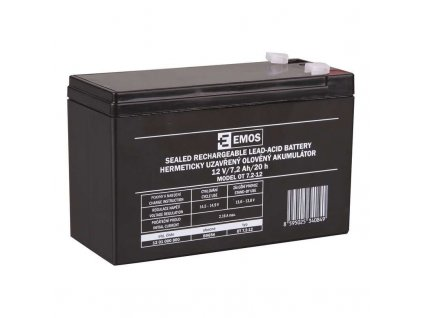 Bezúdržbový olověný akumulátor 12 V 7,2 Ah faston 4,7 mm