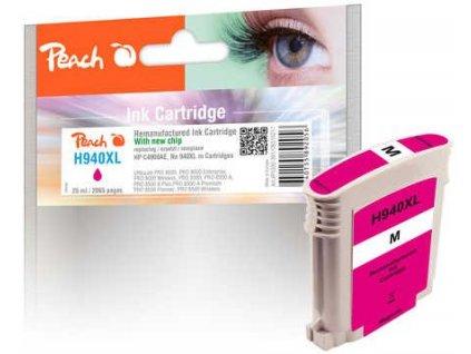 Peach H940XL purpurová s čipem kompatibilní s C4908AE, No. 940XL