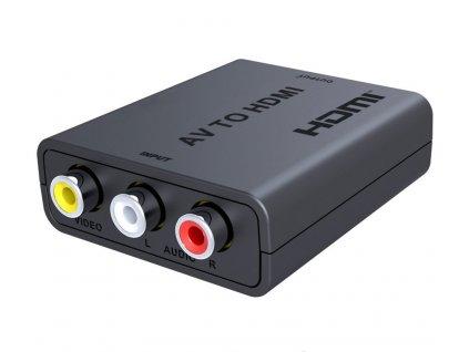 Převodník AV kompozitního signálu a stereo zvuku na HDMI 1080P