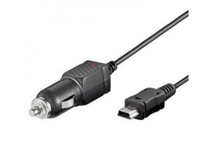 Nabíjecí zdroj s konektorem mini USB pro mobilní telefony do automobilu 1A