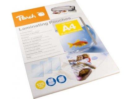 Peach Laminovací fólie A4, 125mic, lesklé, 25ks