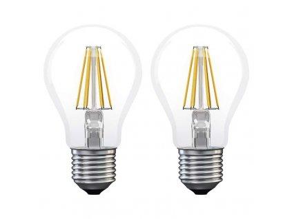 LED žárovka Filament A60 A++ 6W E27 teplá bílá - 2Ks v balení