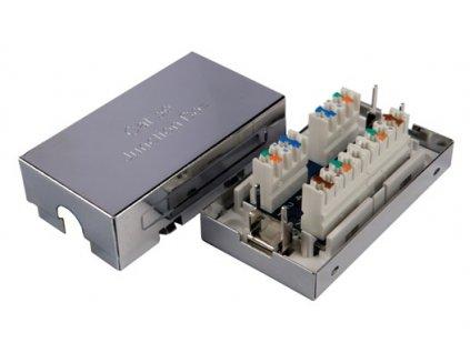 SOLARIX spojovací box, CAT5E, STP, 8p8c, LSA+/Krone