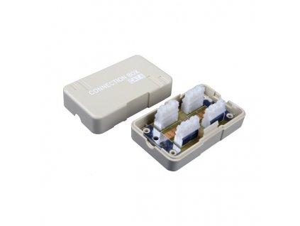 SOLARIX spojovací box, CAT6, STP, 8p8c, LSA+/Krone