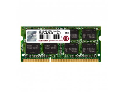 Transcend 4GB DDR3L SODIMM 1600MHz CL11 (TS512MSK64W6H)