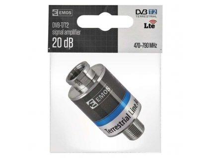 Zesilovač signálu DVB-T/T2 20db