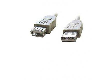 Kabel CABLEXPERT USB A-A 1,8m 2.0 prodlužovací HQ Black, zlacené kontakty