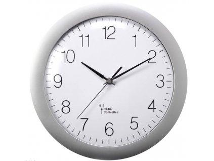 Nástěnné hodiny Basetech 300 mm, stříbrná