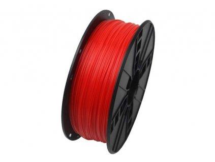 Gembird filament ABS 1.75mm 1kg, fluorescentní červená