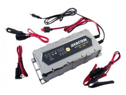 AVACOM Automatická nabíječka AVACOM 12V 10A pro olověné AGM/GEL akumulátory (20 - 200Ah)