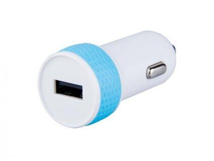 Avacom nabíječka do auta s výstupem USB 5V/1A, bílo-modrá barva
