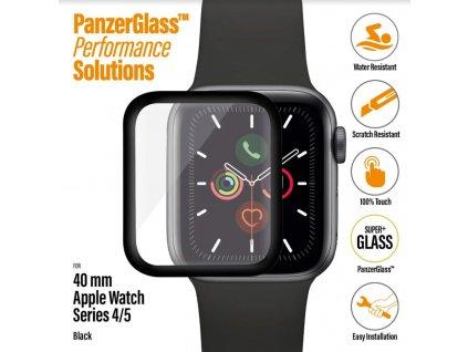PanzerGlass SmartWatch pro Apple Watch 4/5 44 mm černé celolepené