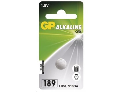 GP LR54 Alkalická knoflíková baterie 1Ks (AG10, LR54, LR1130, V10GA)
