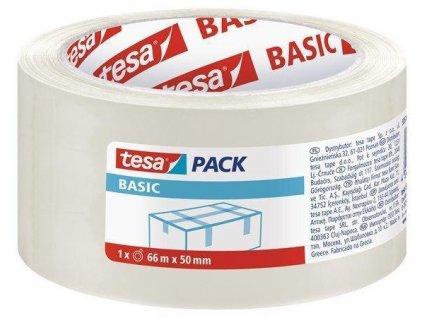"""TESA Balicí lepicí páska """"Basic 58570"""", transparentní, 66m x 50mm"""