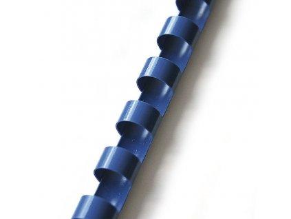 Plastové hřbety 100ks, 10mm, modré