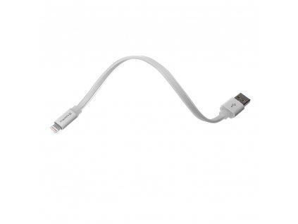 ColorWay USB - Lightning kabel 25cm, plochý, bílá