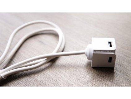 Powercube USBcube Extended 3A 1,5m - Bílá