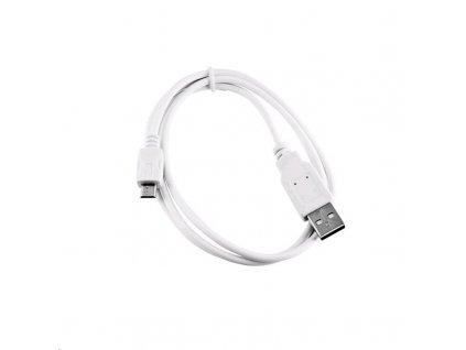 C-TECH USB 2.0 AM/Micro B, 1m, bílý