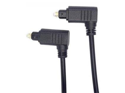 PremiumCord Optický Kabel Toslink 90° - Toslink 90°, tloušťka kabelu:4.0mm, délka 1m