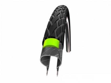 SCHWALBE plášť Road Cruiser 26x1.75 new KevlarGuard černá+reflexní pruh