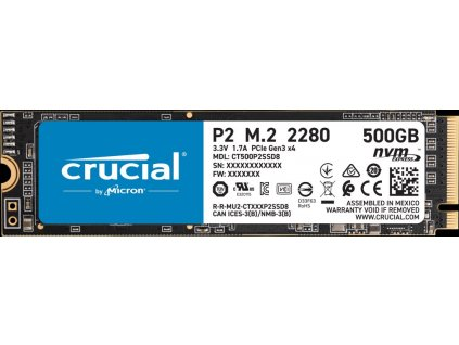 Crucial P2 SSD NVMe M.2 500GB PCIe