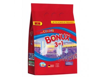 Bonux prací prášek Color Caring Lavender 20 PD/1,5kg