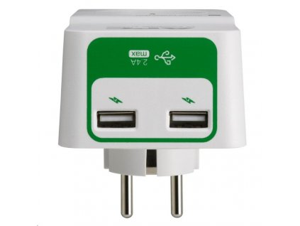 APC Essential SurgeArrest 1 česká zásuvka, 2portová USB nabíječka