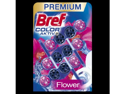 Bref WC blok Color Aktiv Fresh Flower 3x50g