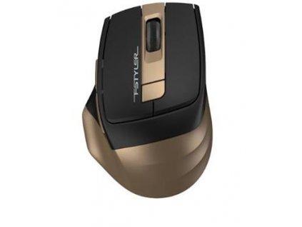 A4tech FG35, FSTYLER bezdrátová myš, bronzová