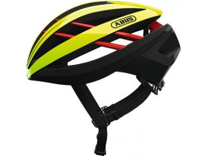 Abus Aventor - yellow/red - vel. M