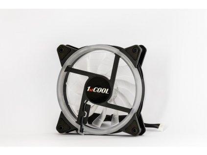 1stCOOL AURA RAINBOW ARGB Double Ring Fan 12cm