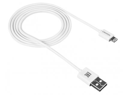 CANYON 8-pin Lightning - USB 2.0 kabel, bílá CNE-CFI1W